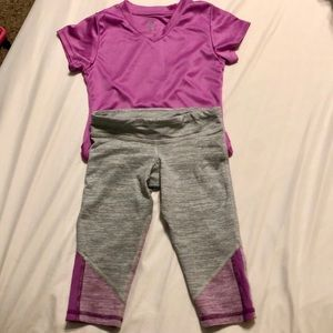Champion athletic outfit. Crop leggings and top